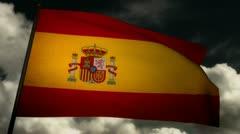 Flag Spain 02 Stock Footage