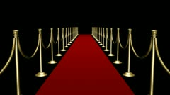Red Carpet I - Loop + Alpha channel Stock Footage