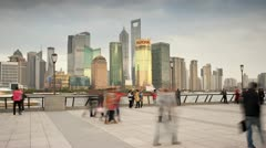 China, Shanghai, city T/L Stock Footage