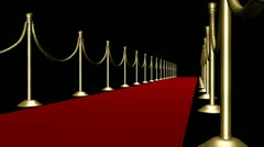 Red Carpet II - Transparent Loop (+ alpha channel) Stock Footage
