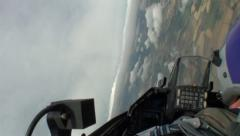 F16 Falcon Jet Fighter, in cockpit view - stock footage