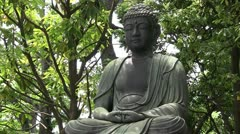Buddha meditating Stock Footage