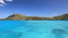 Maupiti Lagoon - stock footage