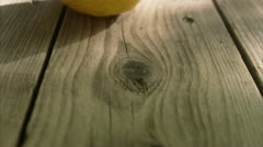 A divided lemon Stock Footage