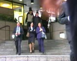 People city rush hour London Stock Footage