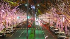Omotesando tilt-shift & time-lapse. - stock footage