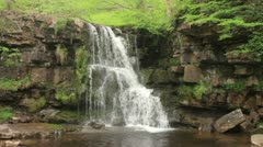 Waterfall, swaledale, yorkshire dales, england Stock Footage