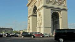Triumphe Arch in Paris france, champs elysees - stock footage