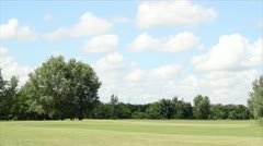 Golf field landscape Stock Footage