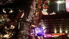 Las vegas north strip aerial Stock Footage