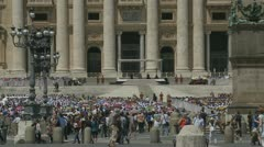 Pope's mass at St Peters, Rome (3) - stock footage