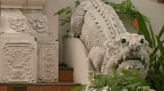 Still Dragon at Wat Chedi Luang Stock Footage