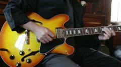 Guitar wedding sunburst gibson Stock Footage