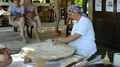Preparing traditional arabic food.Turkey. Stock Footage