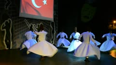 Turkish dances.Hotel in Turkey. - stock footage