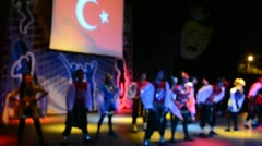 Turkish dances.Hotel in Turkey. Stock Footage