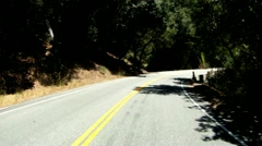 driving down a canyon road into a tunnel Ojai Ca travel traveling outdoors  - stock footage