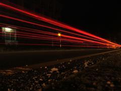 Thai Superhighway at Night - stock photo