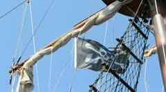 pirates.The ship in the sea. Turkey, Mediterranean Sea. - stock footage