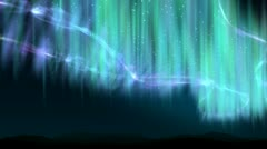 Aurora shine over the hills - stock footage
