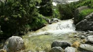 Wild water filmed with camera slider Stock Footage