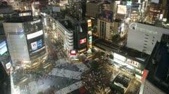 Japan, Tokyo, people T/L - stock footage