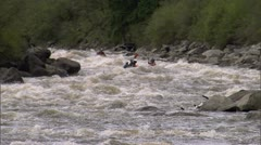 Kayak Idaho Big White Water 5 Stock Footage