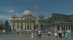 Pope's mass at St Peters, Rome (1) - stock footage