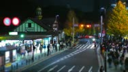 Tilt-shift time-lapse shot of Tokyo's busy city roads. Stock Footage