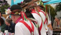 Morris dancers, kettlewell, yorkshire dales Stock Footage