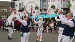 Morris dancers, kettlewell, yorkshire dales Stock Footage