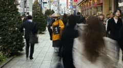 Japan, Tokyo, city priest T/L Stock Footage
