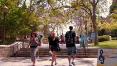 College students walking to class 2 Stock Footage