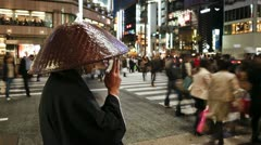 Japan, Tokyo, city priest T/L - stock footage