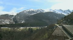 Village Pyrenees 02 Stock Footage