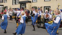 Morris dancers, bainbridge, yorkshire dales Stock Footage