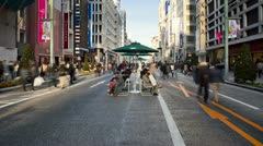 Japan, Tokyo, streetscene T/L Stock Footage