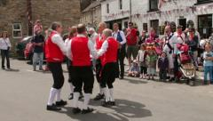 Sword dance, morris dancers, yorkshire dales Stock Footage