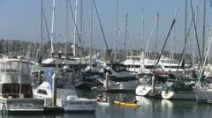 Ocean Kayaks off San Diego Shelter Island Harbor Marina Stock Footage