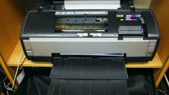 Inkjet printer color photo prints - timelapse Stock Footage