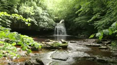 Waterfall, wensleydale, yorkshire dales, england Stock Footage