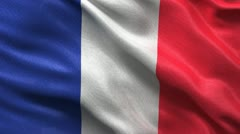Seamless French Flag - stock footage