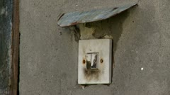 Light switch - stock footage