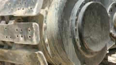 Track Crane - Closeup Stock Footage