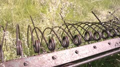 Antique farm rake 1 by dwking Stock Footage