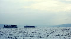 ISTANBUL, TURKEY: Early morning at the Bosphorus strait Stock Footage