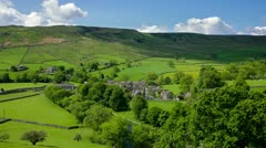 Village of burnsall, yorkshire dales Stock Footage