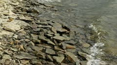 Waves on Rocky Shore - stock footage