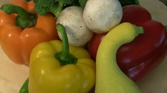 Vegetables, rotating,8 Stock Footage