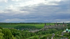 Kamianets-Podilskyi Castle, Timelapse - stock footage